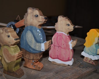 Goldilocks and the Three Bears wooden play set