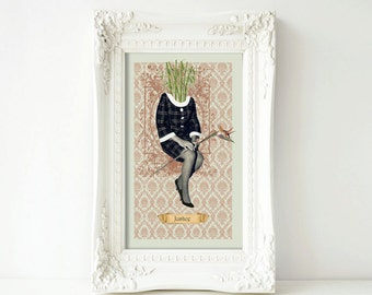 11 x 17 in. Justice (Bamboo)—Large Print from Floriography Tarot