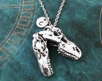 Dinosaur Necklace, LARGE T-Rex Necklace, Personalized Jewelry BIG Dinosaur Pendant, T-Rex Pendant, Dinosaur Charm Necklace, Dinosaur Gift