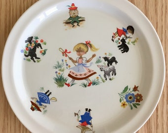 Brendan Erin Stone Mary had a Little Lamb children's plate made in Arklow Ireland