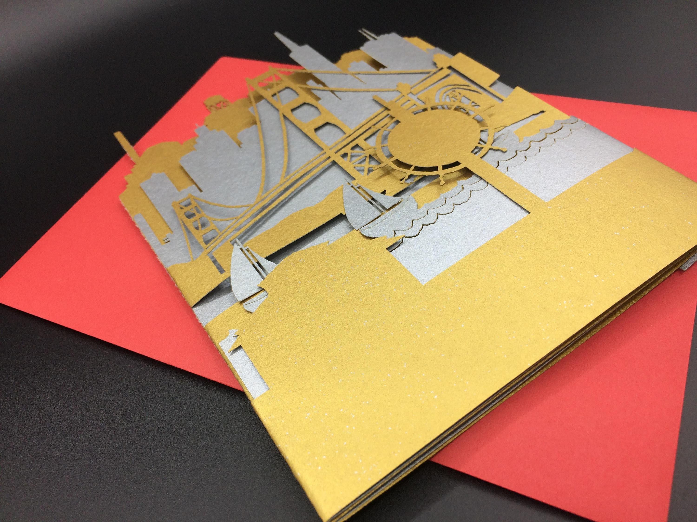 San francisco greeting card w envelope golden gate bridge shipping kristyandbryce Choice Image