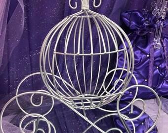 Cinderella Coach Wire Cinderella Carriage Fairytale Wedding Centerpiece Baby Shower Decor Princess Party Centerpiece Sweet 16