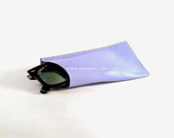 Leather Glasses Case. Sunglasses Sleeve. Eye Wear Protection. Leather Eyeglasses Case. Handmade Leather Cover. Sunglasses Covers.
