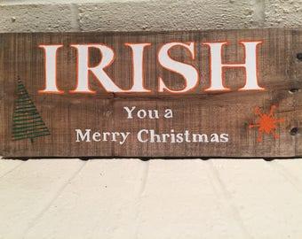Irish holiday sign