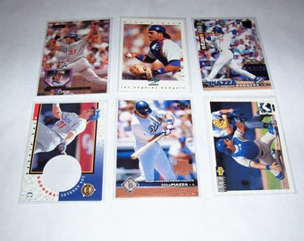Vintage Lot of 6 Mike Piazza Baseball Cards