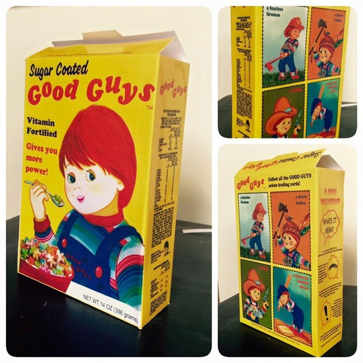 Good Guy Cereal Box Replica Chucky Horror Prop Childsplay
