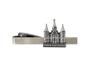 Provo City Center Utah Temple Tie Bar Silver or Gold Finish