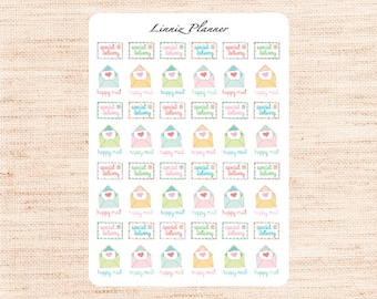 Happy Mail Special Delivery (Matte planner stickers, perfect for planners)
