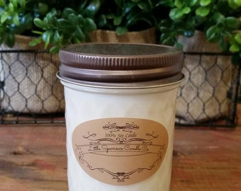 Coconut Lime Soy Candle-8oz-12oz-Coconut soy candle, lime soy candle