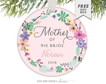 Gift Ideas for Mother of the Bride Christmas Ornament Mother of the Bride Gift from Bride to Her Mother on Wedding Day Gift for Mom Ornament