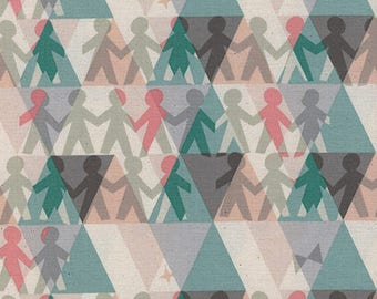 Paper People in Spearmint -Paper Cuts -Rashida Coleman-Hale for Cotton + Steel