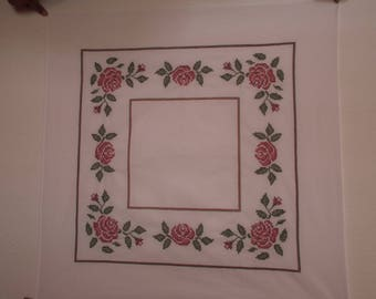 Square floral tablecloth