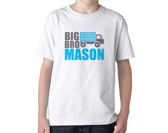 Big Brother Dump Truck Personalized Shirt-TW