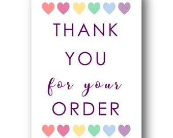 Thank You A6 Postcards (50) - Business Stationery, Compliments, Customer Card