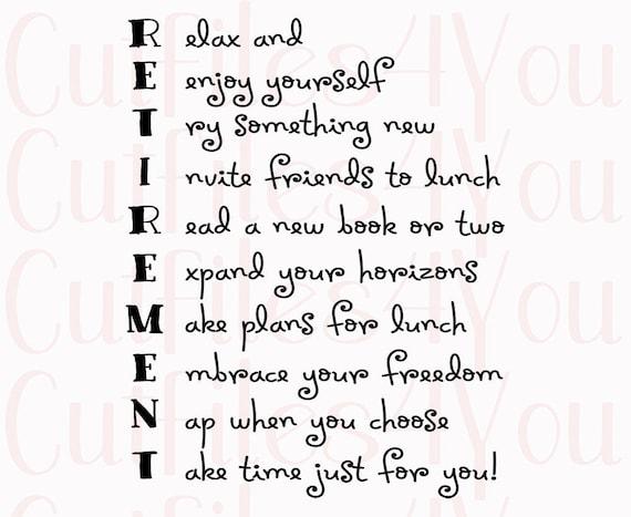 New Pensioen naamdicht gedicht voor gepensioneerde SVG cadeau @MJ94