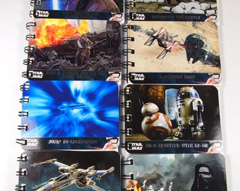 12 Upcycled Star Wars Party Favors - Star Wars Notebooks - Star Wars Birthday Party - Star Wars Notepads - Star Wars The Force Awakens