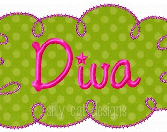 Diva Frame Applique  Embroidery Design