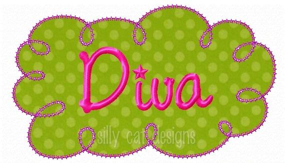 Diva Frame Applique  Embroidery Design