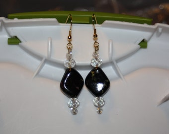 Sparkly Marble Earrings