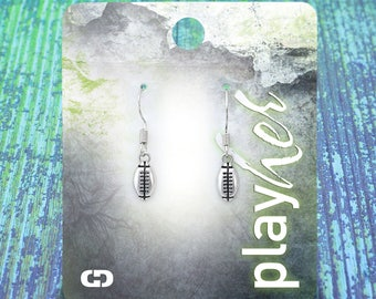 Silver Football Dangle Earrings - Great Football Gift! Free Shipping!