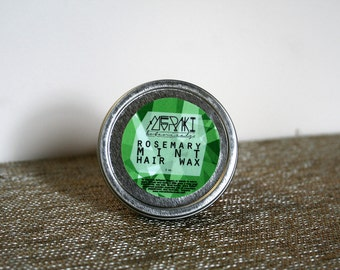 rosemary mint hair wax ~ 2 oz.\ organic hair product \ hair wax \ facial hair wax \ hair pomade \ natural hair wax \ styling wax