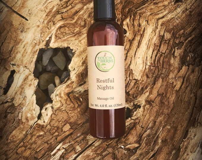 Calming Massage Oil - Relaxing Massage Oil - Sleep Oil - Restful Nights Massage Oil - Valerian Root Infused - Herbal Infused - Sleeping Aid