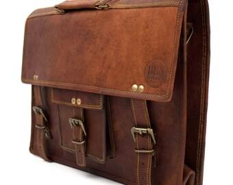 Aktentasche | Messengerbag | Laptoptasche | Notebooktasche | Umhängetasche | echtes Leder | Vintage - BEN HAYLEN 'imStraight'