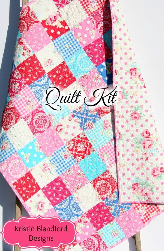 Baby girl quilt kit flower sugar fall 2015 lecien fabrics like this item solutioingenieria Images