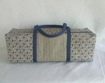 Blue Country Flower Carrying Case for the Cricut Explore Air , Cricut Expression 2 , Silhouette Cameo 2 or 3 / Die Cut Machine Tote