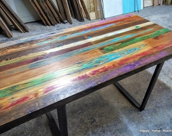 Charmant Custom Reclaimed Wood Dining Table, Desk, Console Or Coffee Table With Lots  Of Color