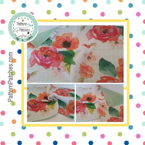 In Stock - LOVIE 2 layer DOUBLE Gauze Organic Sweet Pea Gauze Baby Blanket - Watercolor Floral Deer Creatures Collection /Summer Solids