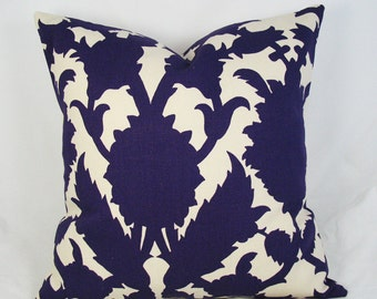 Thomas Paul - Botanical -  Decorative Pillow Cushion Cover - Accent Pillow - Throw Pillow - amethyst - purple - 16 x 16 inch