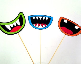 Monster Party Centerpieces, Monster Birthday Centerpieces, Monster Mouth Centerpieces