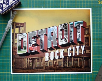 Detroit Art Print KISS Band Detroit Rock City Lyric Art Music Typography Print Dorm Decor Audiophile Artwork Rock and Roll Art 8x10 Print
