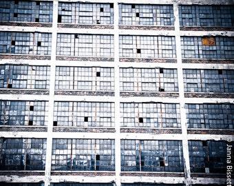 Russell Industrial Center Detroit Windows Fine Art Photograph on Metallic Paper
