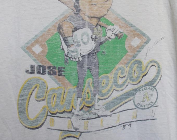 MLB Oakland Athletics A's Jose Canseco 1988 vintage Tshirt