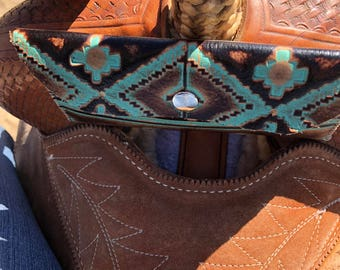 Navajo saddle cell phone holder