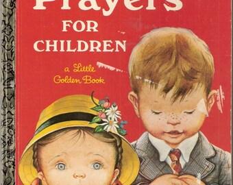 Prayers For Children Vintage Little Golden Book Illustrated by Eloise Wilkin 1969
