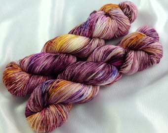 Speckled Sock Yarn, SW Merino Nylon, SW Merino Sock, Speckled Merino Yarn, Indie Dyed Yarn, Speckled Wool Yarn, Life is a Cabernet colorway