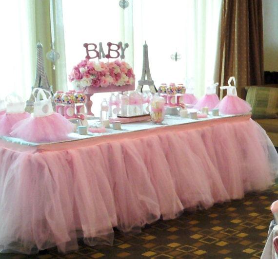 High Quality Tutu Table Skirt Custom Made Wedding Birthday Baby Shower