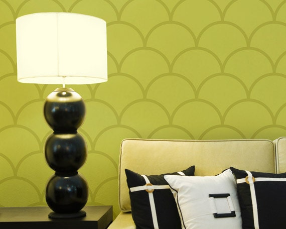 Moroccan Wall Stencil Pattern-Large ScallopsPainting Stencil