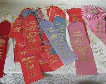 1st, 2nd, 3rd Place Ribbons from Count Fairs