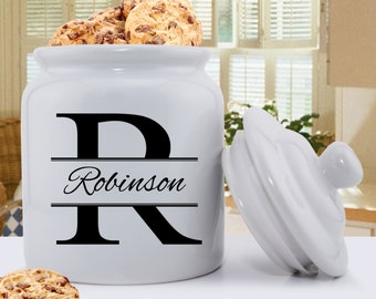 Personalized Stamped Design Cookie Jar - Personalized Cookie Jar - Family Cookie Jar - Gifts for Her - Gifts for Mom - GC1077 STAMPED