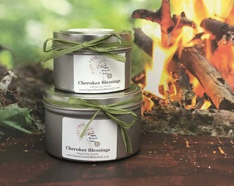 Cherokee Blessings - Soy Candles - Container Candles - Housewarming Gift - 4oz Candle - 8oz Candle - Smudge