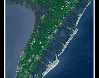 Cape May New Jersey Satellite Poster Map
