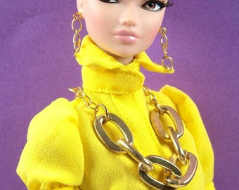 Barbie Gold Mega Chain Necklace Set by Pam Maness for TFS