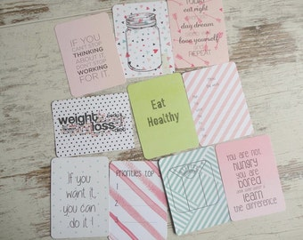 10 journaling cards diet