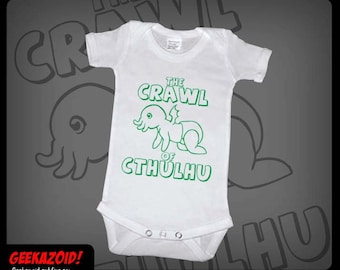 Crawl of Cthulhu Baby Onesie Lovecraft Humor