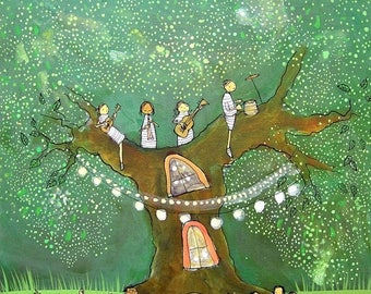 Gren Tree Party- Archival Print