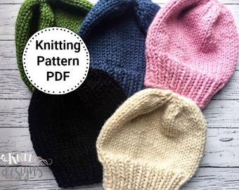 Knitting Pattern | Hat Pattern | Instant Download PDF Hat Knitting Pattern | Knit Hat Pattern | Sophie Slouch Hat